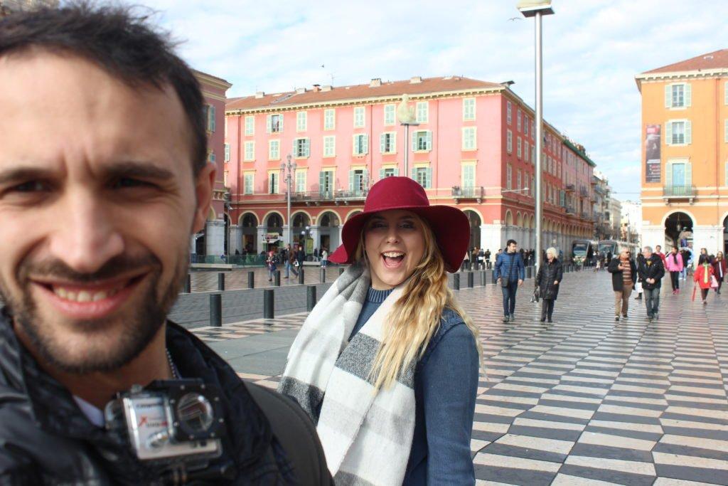 nice cote azure selfie italiantripabroad nice transport guide france