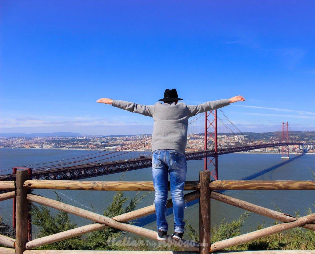 City tour of Lisbon - View from Cristo Rei Lisbon Portugal