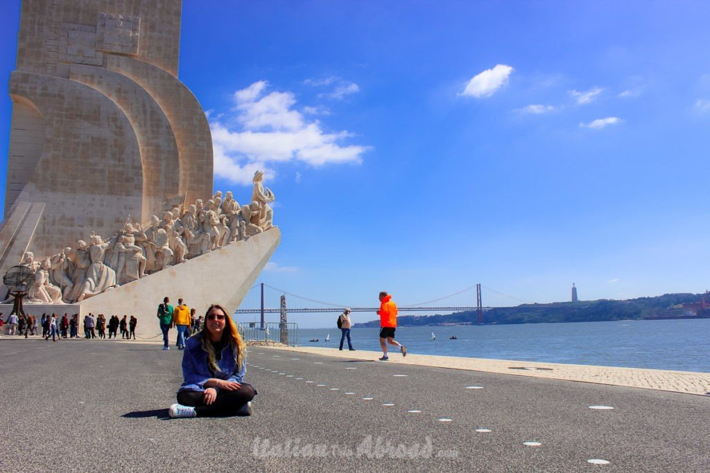 Discovery Monument - Lisbon - Italiantripabroad - Bimba - 25th abril Bridge - Lisbon in 3-days itinerary