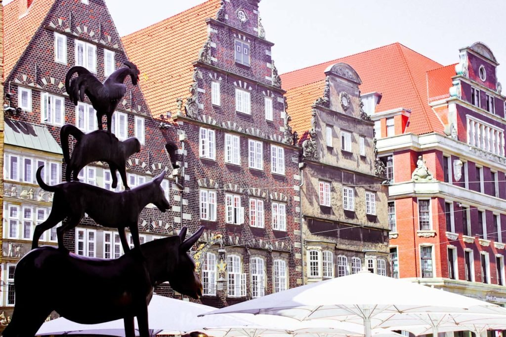Bremen Germany Grimms Brother fairytales - Musicians of Bremen