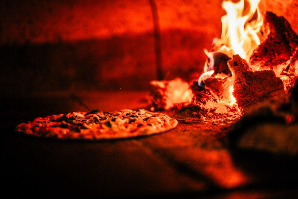 Naples birthplace of Pizza in the wooden oven