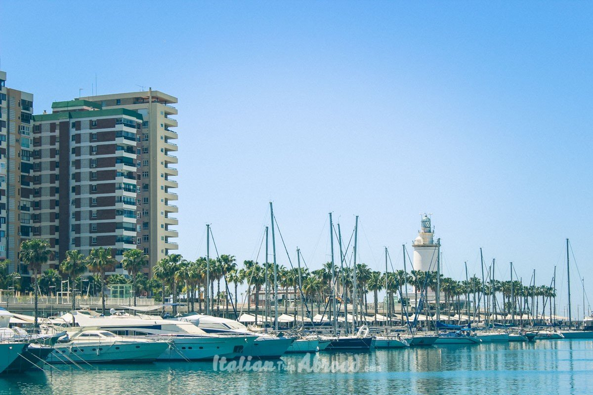Malaga Harbor one of the best Cruises stops in the mediterranean