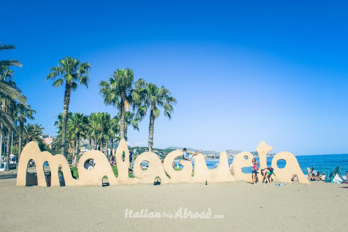 Playa la malagueta - Spain Best beaches in Malaga - Southern Spain - Costa del Sol