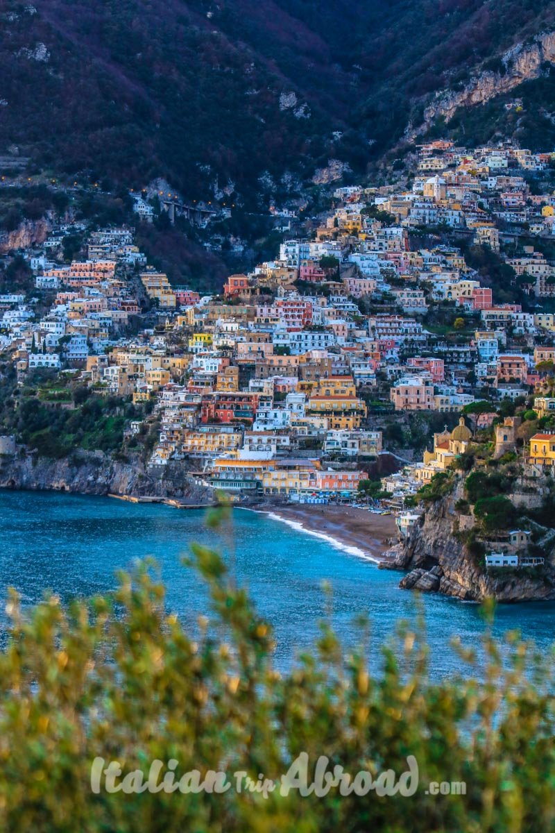 positano Amalfi Coast from sorrento ferry - gianluca acampora - italian trip abroad
