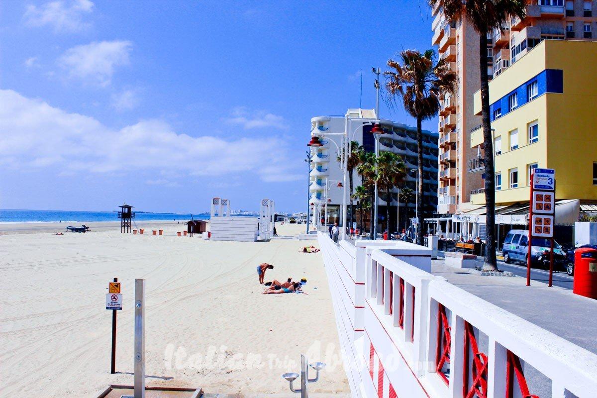 Cadiz promenade and beachfront