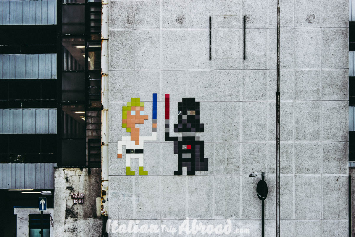 Shoreditch and Brick Lane - star wars in brick lane