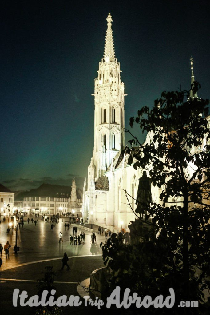 Mathias Church at night is a charming landscape of Budapest