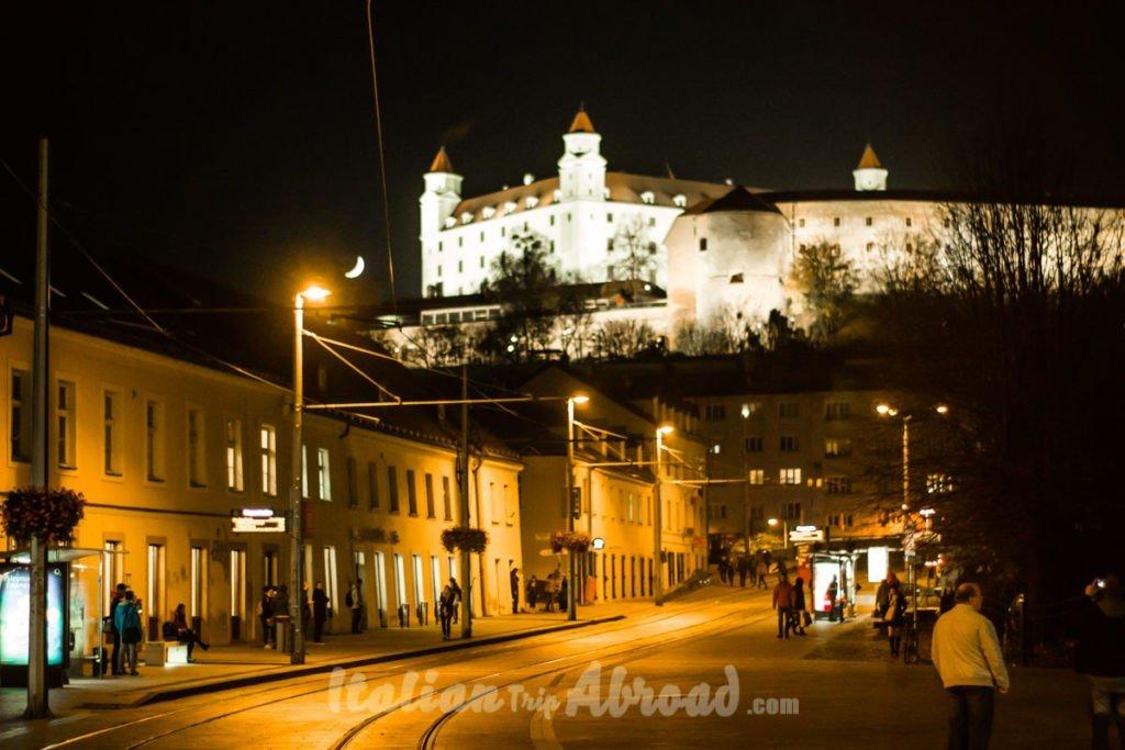 Night view of the Castle of Bratislava - Slovakia