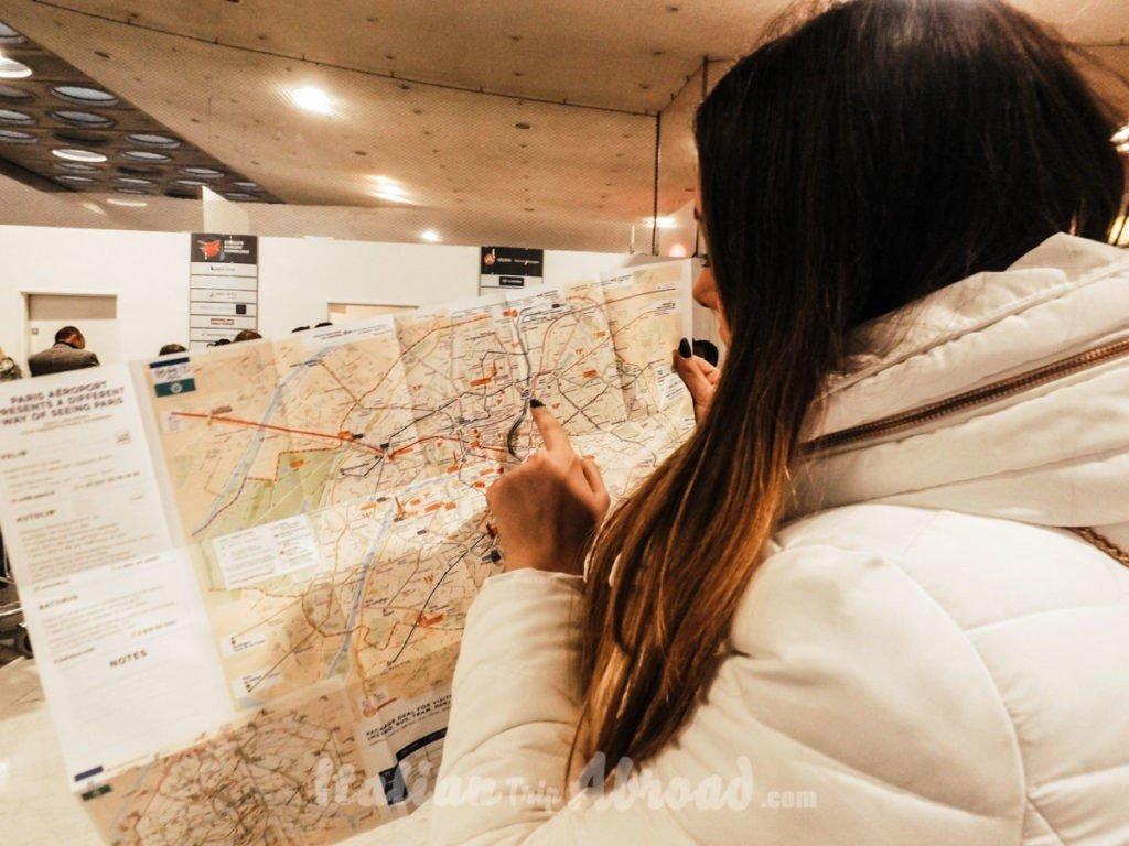 Paris map - Paris in winter