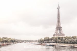 France Bridge Eiffel Tower Boats City Architecture