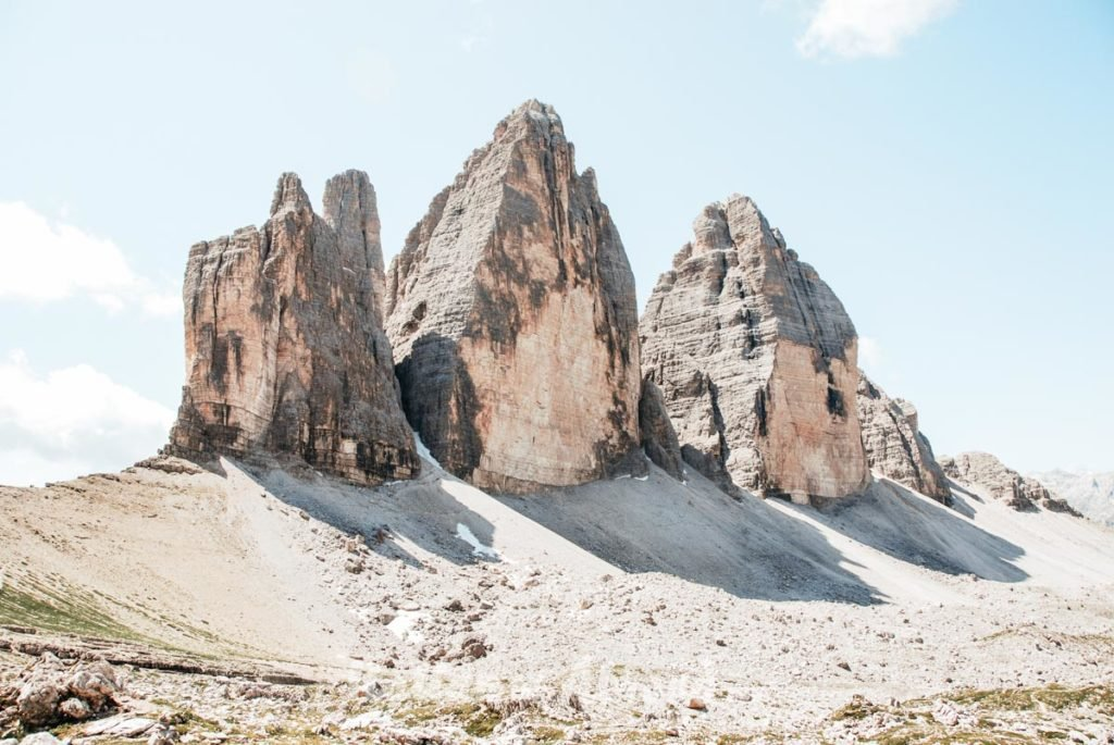 Mountain Trentino Three Peaks Of Lavaredo Sky Italy