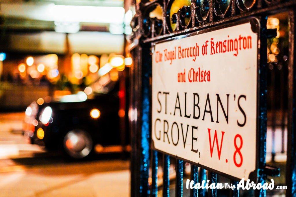 Prettiest streets in London - Kensington and Chelsea borough