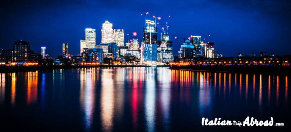 View of Canary Wharf London