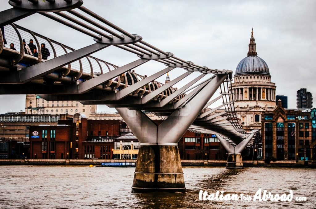 Best free view of London - St. Paul's Cathedral from Millenium Bridge