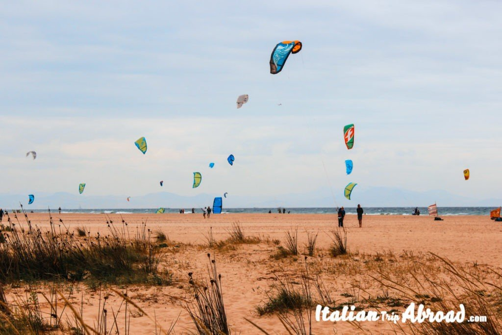 Tarifa Kitesurfing on Playa de los Lances