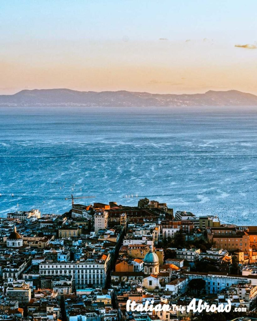 Napoli seaside the most romantic city in italy