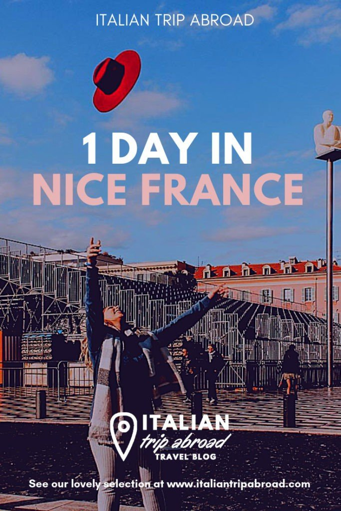 Pinterest Cover of 1 Day in Nice France