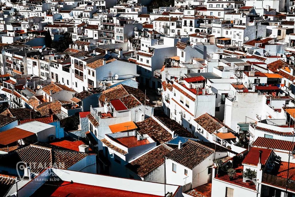 Aereal view of Mijas - Andalucia - Spain