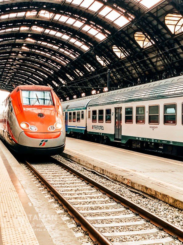 One day in Milan Italy - Train Station