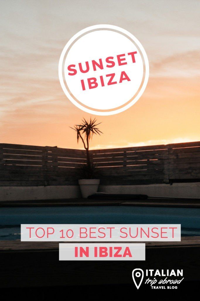 Best sunset of Ibiza over an amazing pool in Ibiza Town