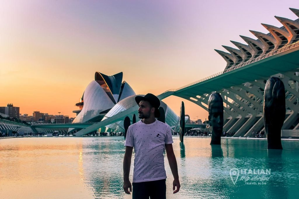 Valencia at the sunset