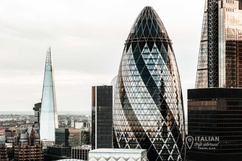 Gherkin and The Shard London Skyline