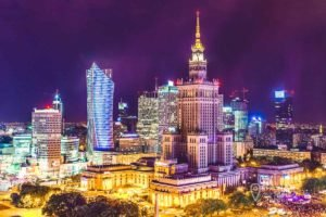 Landscape of Warsaw at Night - What to visit in Warsaw in 2 days