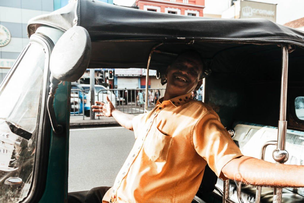 Local tuk tuk driver sri lanka