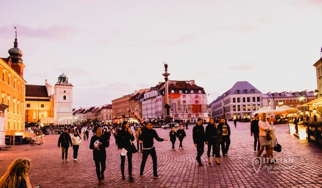 Main square of Warsaw - Poland