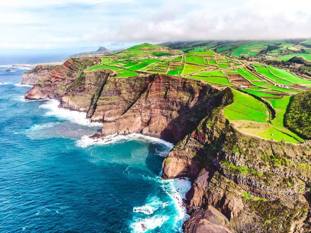 Azores Island Drone view