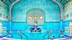 The amazing majolica of the Gellért Spa of Budapest