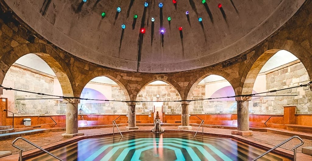 Turkish Architecture of the Kiraly Baths and the Octagonal indoor pool