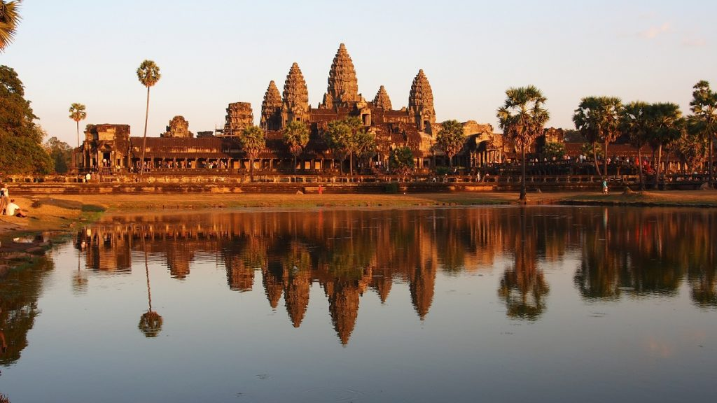 Angkor Wat in Cambodia from the front prospective