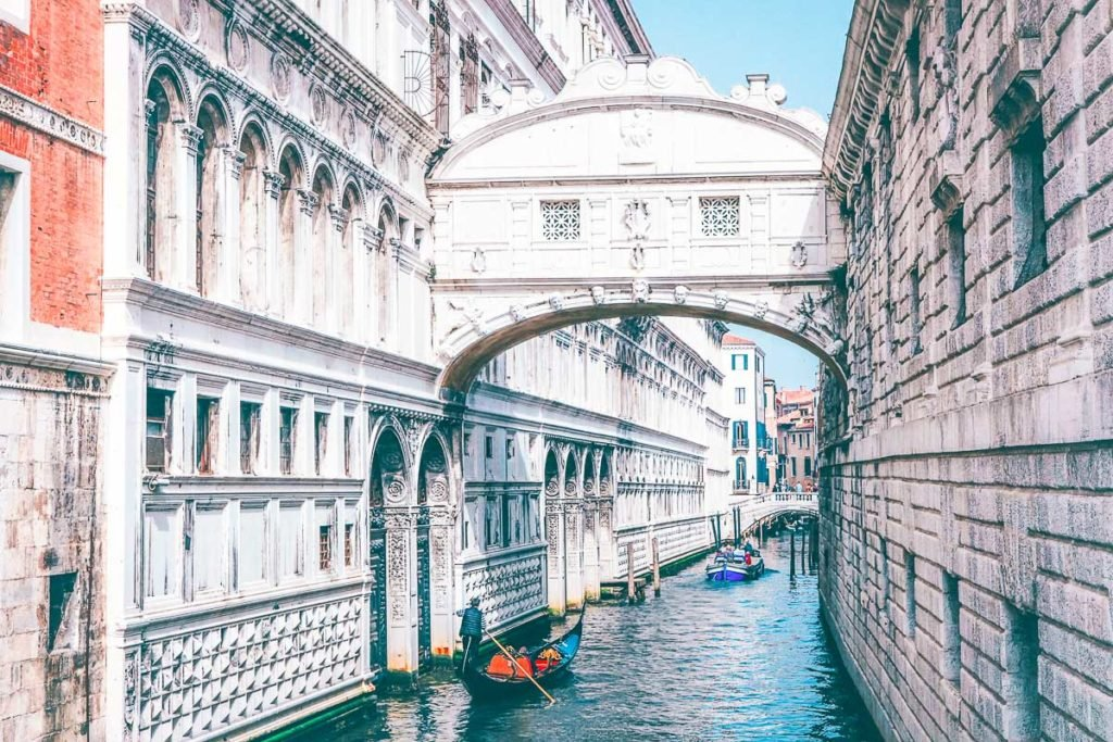 Canal of Venice and the amazing bridges of Venice