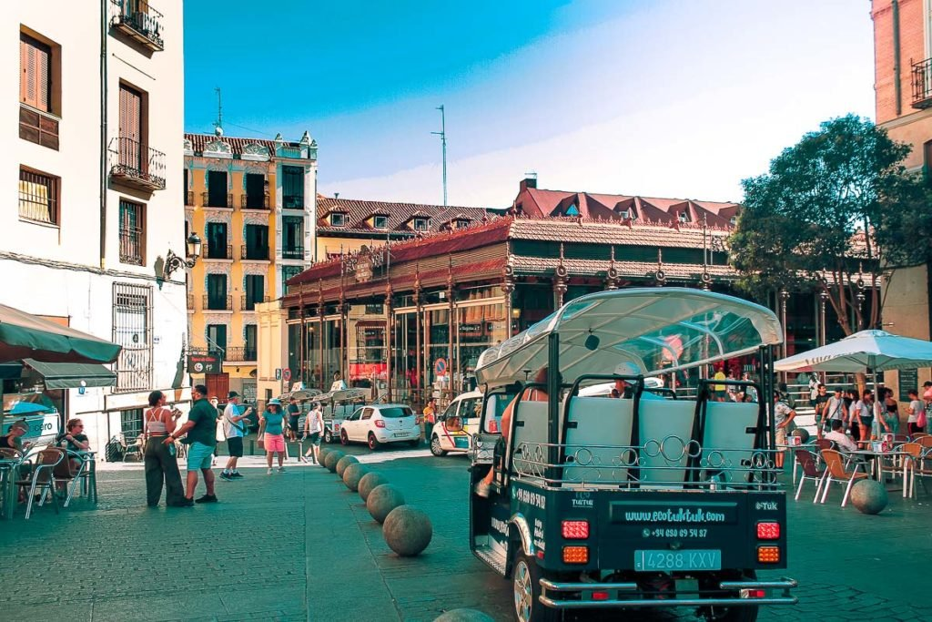 Madrid city centre and market