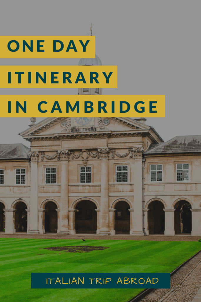 One day itinerary in Cambridge