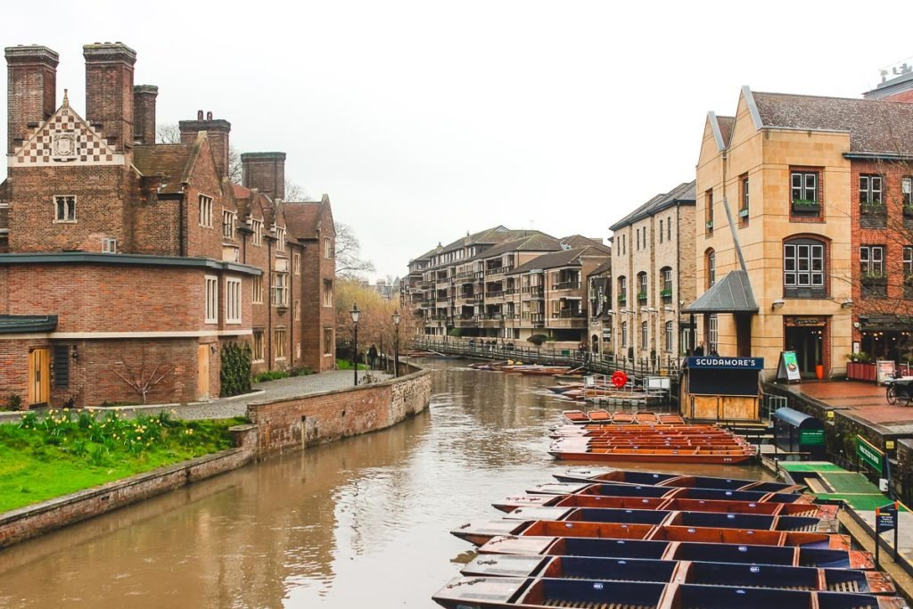 Punting on the River of Cambridge