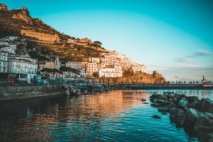 Sunrise on the best beaches of Amalfi Coast