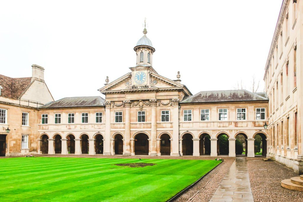 Entrance of the Trinity College of Cambridge