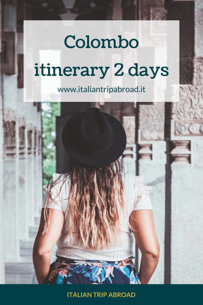 Colombo itinerary 2 days
