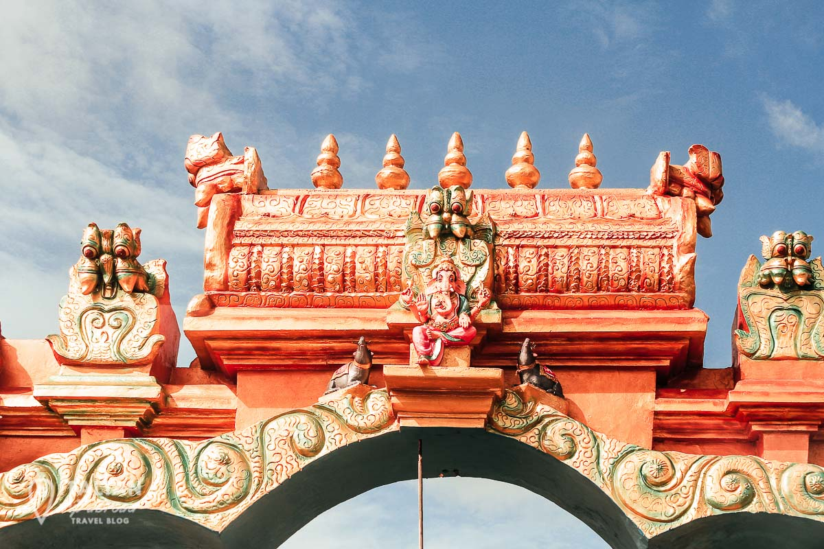 The entrance to an hindu temple in Jaffna District - Sri Lanka