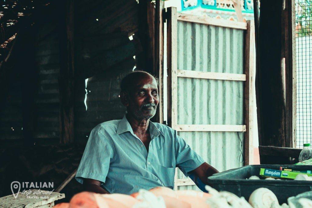 Meet locals in Sri Lanka - This is a street vendor in Jaffna