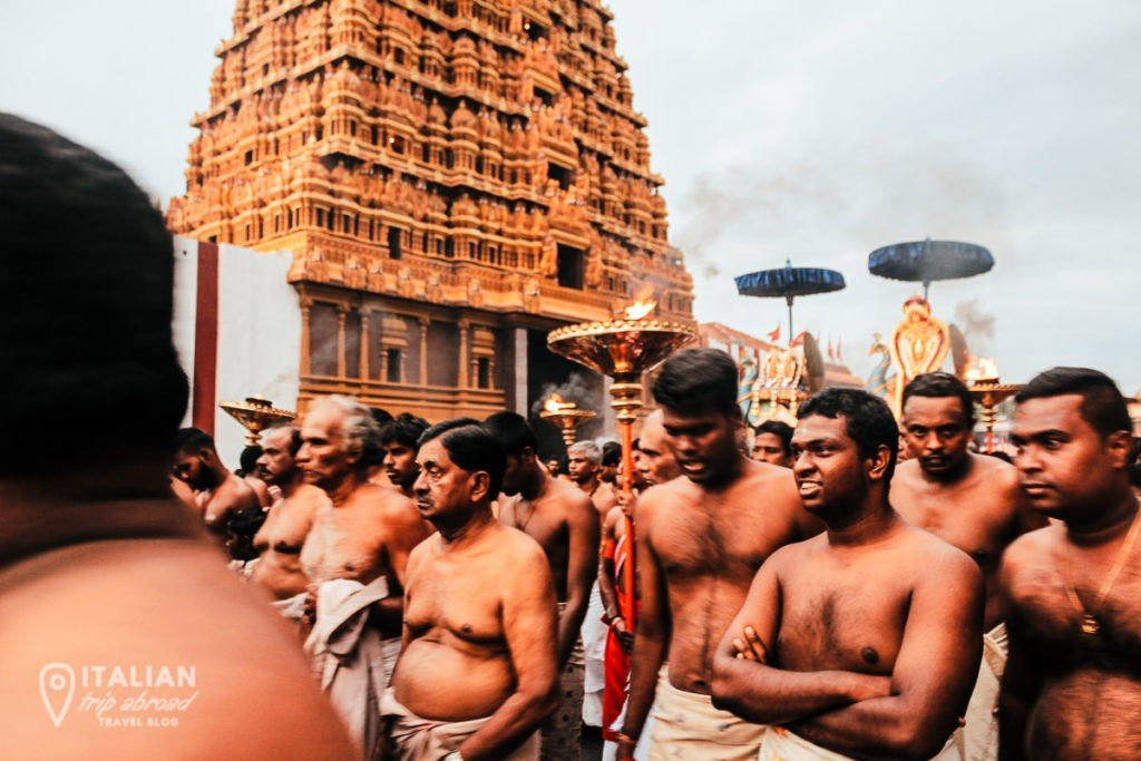 Nallur Kandaswamy Hindu Temple Annual Festival with Hindu Procession Jaffna Sri Lanka