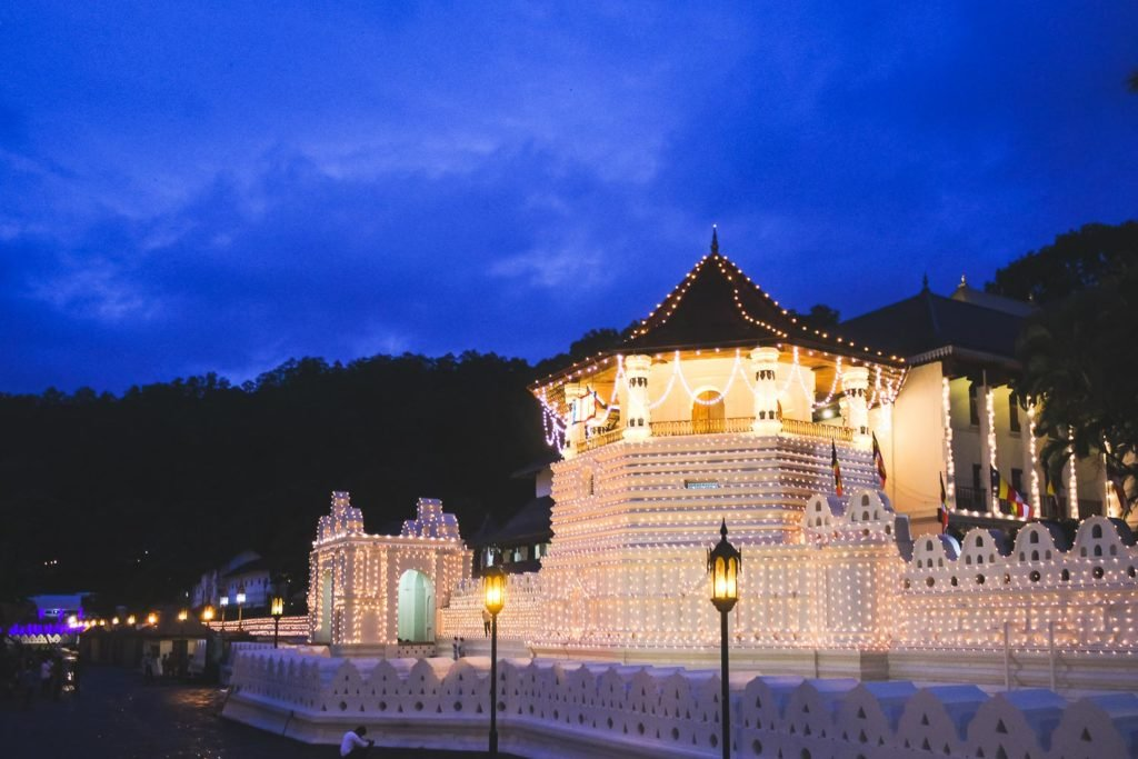 Sacred Temple of Buddha Temple in Kandy - Sri Lanka