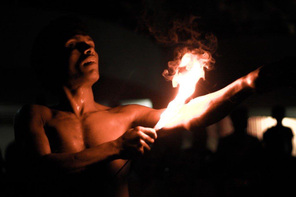 Sri Lankan Fire Dancer