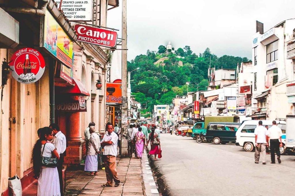 Streets of Kandy Old Town - Sri Lanka