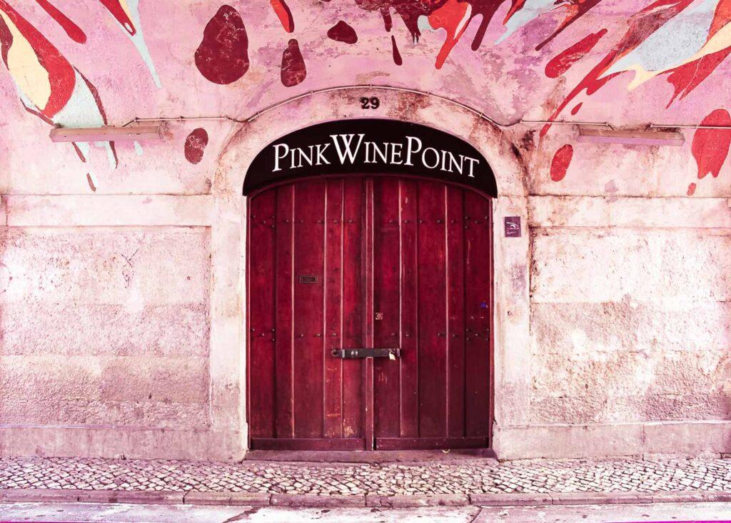 Pink Wine Point in Lisbon - Pink Street