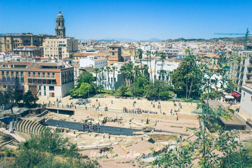 Malaga city view from the top of Gibralfaro