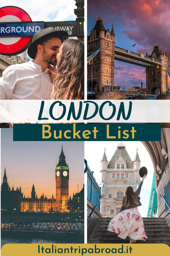 London Bucket List - Pin - The best list of things to do in London - UK