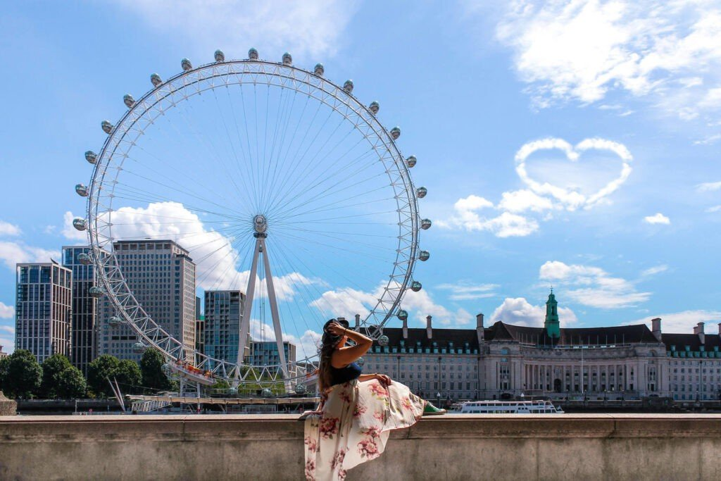 London Eye view from the riverside by Italian Trip Abroad